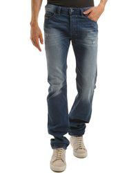 Diesel Safado Straight Cut Weathered Jeans - Lyst