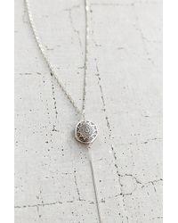 Vanessa Mooney Chantal Silver Rosary Necklace - Lyst