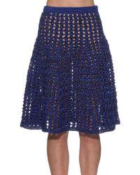 Proenza Schouler Open-Knit A-Line Skirt - Lyst