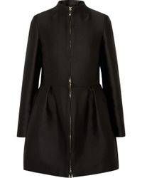 Valentino Pleated Satin Coat - Lyst