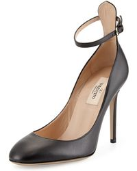 Valentino Tango Leather Ankle-Strap Pump - Lyst