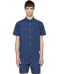 Marc By Marc Jacobs Indigo Palm Patterned Shirt blue - Lyst