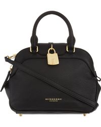 Burberry Leather Bowling Bag 29 - Lyst