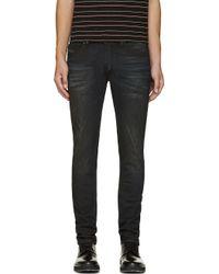 Diesel Black Skinny Tepphar Jeans - Lyst