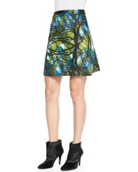 Risto Greenwoods Printed A-Line Skirt - Lyst