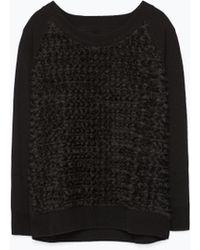 Zara Knit Sleeves Sweater - Lyst