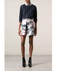 Carven Ocean Print Skirt - Lyst