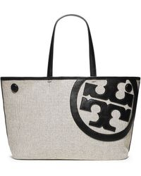 Tory Burch Lonnie Canvas Mini Tote - Lyst