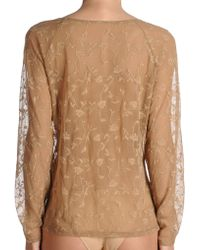 Fogal Intimate Knitwear beige - Lyst