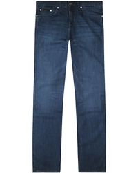 Boss Black Delaware1 Slim Fit Jeans in Wave Blue - Lyst