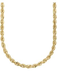 Lord + Taylor 14k Yellow Gold Rope Chain Link Necklace