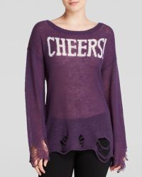 Wildfox Sweater - Cheers Distressed - Lyst