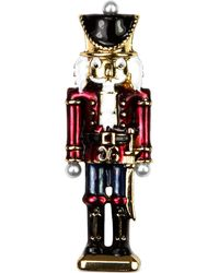 Jones New York - Gold-Tone Multi-Color Nutcracker Pin - Lyst