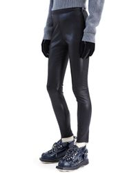 Acne | Acne Lent Leather Pant Black | Lyst