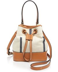 Tory Burch Shoulder Bag - Canvas Baby Bucket - Lyst