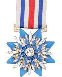 Shourouk - Blue Medal Pin - Lyst