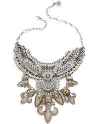 Laura Cantu - Sun & Fleur De Lys Necklace - Silver Multi - Lyst