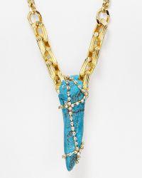 Sam Edelman - Dreamcatcher Pendant Necklace - Two Tone - Lyst