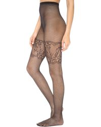 Alice + Olivia - Alice Olivia Show Stopper Lace Fishnet Tights Black - Lyst