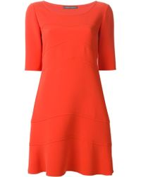 Alberta Ferretti Half Sleeve Dress - Lyst