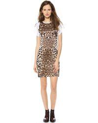 Rodarte Leopard Silk T-Shirt Dress - Lyst
