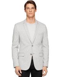Calvin Klein Marled Knit Sportcoat gray - Lyst
