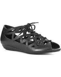 MIA - Liz Wedge Peep-Toe Sandals - Lyst