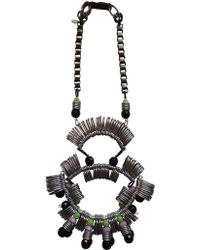 Kirsty Ward - Pewter & Black Statement Necklace - Last One - Lyst
