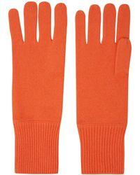 CASH CA - Orange Milled Cashmere Gloves - Lyst