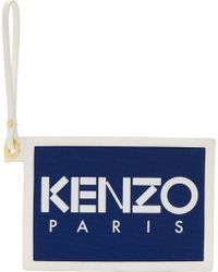 KENZO - Canvas And Leather Thin Wallet - Lyst