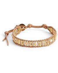 Chan Luu - Beaded Leather Bracelet - Natural Mix/ Beige - Lyst