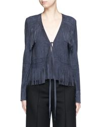 Elizabeth and James | 'zadeh' Goat Suede Fringe Jacket | Lyst