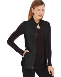 Jones New York Signature Quilted Vest - Lyst