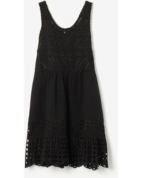 Sea Embroidered Tank Dress - Lyst