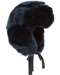 Imposter - Blue Faux Fur Trapper Hat - Lyst