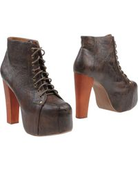 Jeffrey Campbell Brown Ankle Boots - Lyst