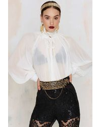 Nasty Gal - Kingdom Come Beaded Belt - Lyst