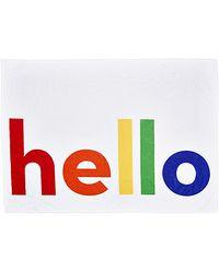 Lisa Perry Multicolor Hello Towel - Lyst