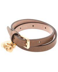 Alexander McQueen Leather Wrap Bracelet - Lyst