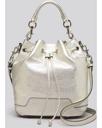 Rebecca Minkoff Shoulder Bag Bloomingdales Exclusive Metallic Fiona Bucket - Lyst