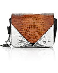 Alexander Wang Small Embossed Prisma Envelope Sling In Tricolor With Rhodium - Lyst