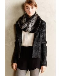 Anthropologie Honeycomb Quilted Vegan Leather Jacket - Lyst