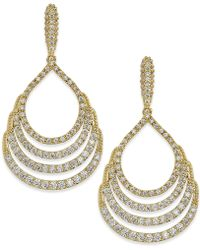 City By City | Gold-tone Crystal Four-row Drop Earrings | Lyst
