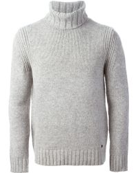 Woolrich Ribbed Turtle Neck Sweater - Lyst