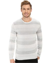 Calvin Klein Mercerized Cotton Sweater white - Lyst