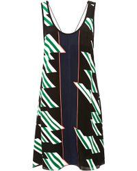10 Crosby Derek Lam Printed Silk Mini Dress - Lyst
