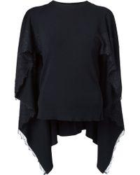 Valentino Cape Sweater - Lyst