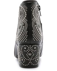 Belle By Sigerson Morrison Cynna Embellished Booties - Black