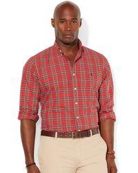 Polo Ralph Lauren Big and Tall Plaid Oxford Shirt - Lyst