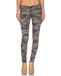 True Religion Casey Printed Skinny Mid-rise Stretch-denim Jeans - Lyst